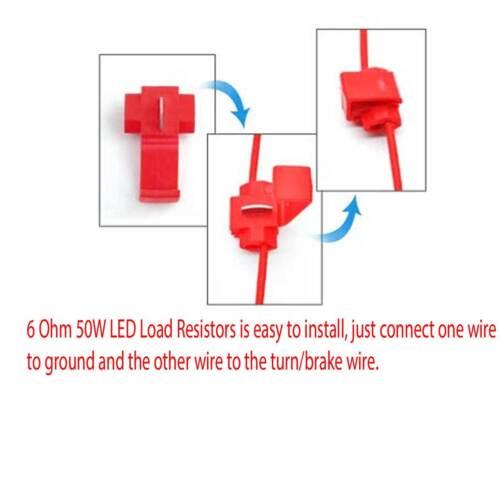 4pcs Load Resistor 50W 6RJ LED Decoder Fix Error Code Hyper Flash Turn Signal