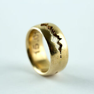 Image Is Loading Personalised Ring Sound Wave Music Customisable Jewellery Mans