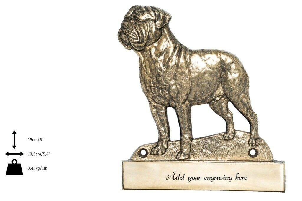 l'intera rete più bassa Bullmastiff - brass tablet  Welcome    with image of a dog, Art Dog type 2  negozio online