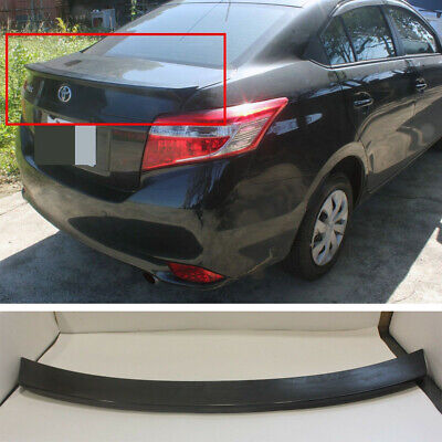 Unpainted Trunk Lip Spoiler R For Toyota Yaris Sedan 07-12