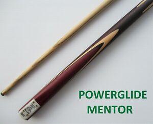 POWERGLIDE-MENTOR-Pool-Snooker-Billiard-Cue-Stick-Ash-Shaft-Rosewood-Butt-NEW
