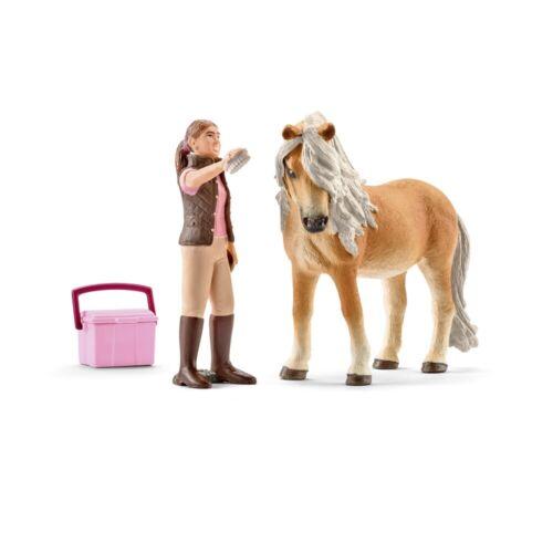 SCHLEICH GIOCATTOLI-SET CAVALLI layoro con SCHLEICH cavallo Island Pony giumenta