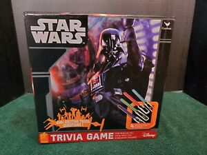 Disney Star Wars Trivia Game Cards Light Saber Pieces Dice Vader Yoda Pre-Owned