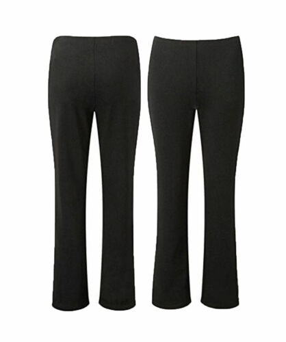 NEW LADIES WOMENS BOOTLEG STRETCH FINALLY RIBBED TROUSERS PLUS SIZE 10-26