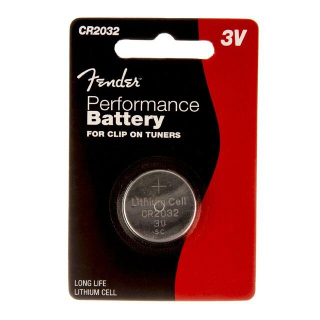 Fender Pile Bouton CR2032 - 3V Performance Lithium Batterie