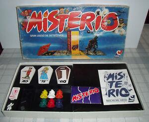 """JUEGO DE MESA """"MISTERIO"""" CEFA 100X100 COMPLETO CAJA GRANDE AÑOS 80 #1"""