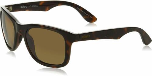 Tortoise Frame with Terra Lens Revo Huddie RE 1000 12 BR Polarized Sunglasses