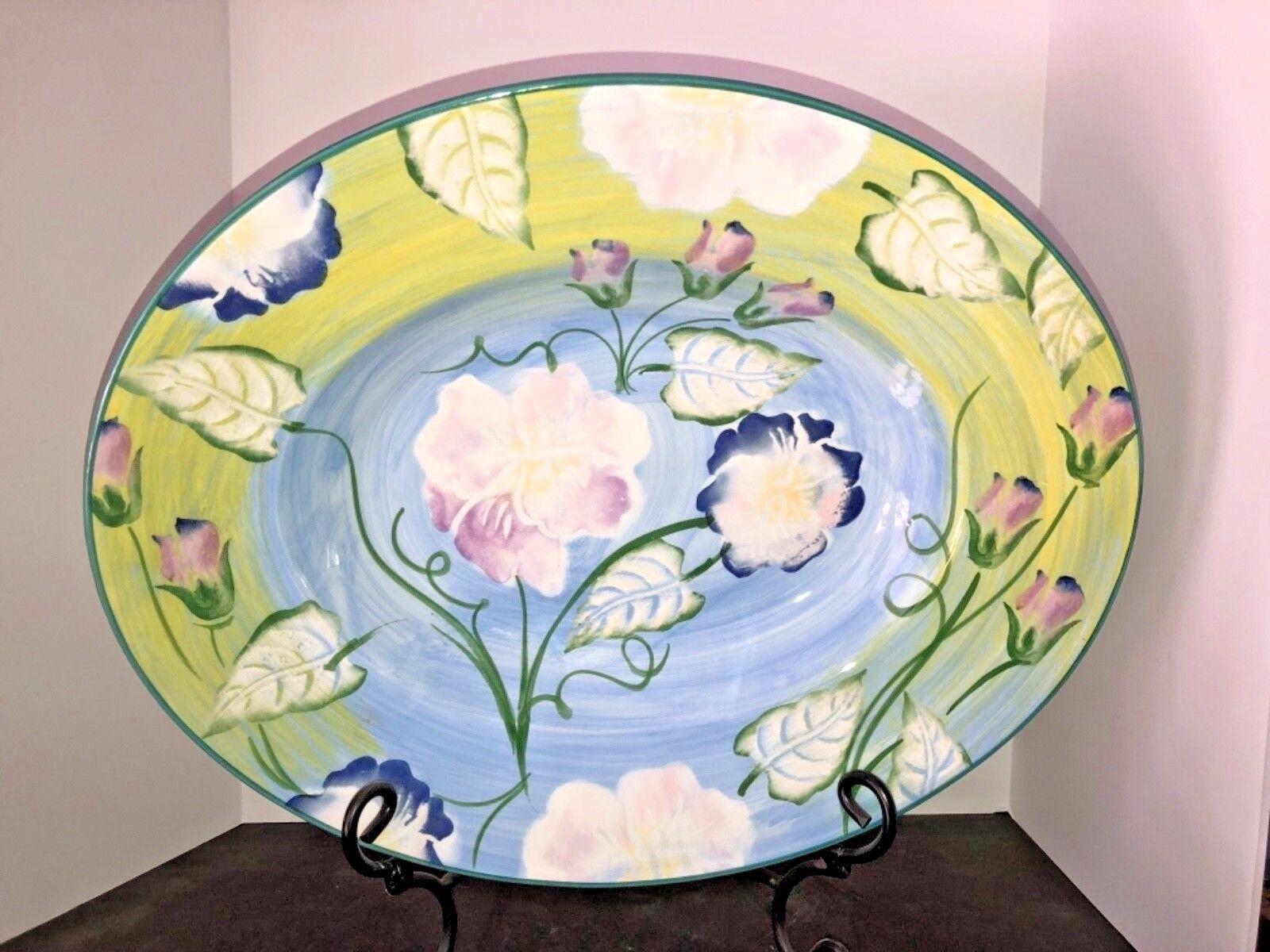 New X-Large Italien Céramique Capri Style Serving Decorative Platter
