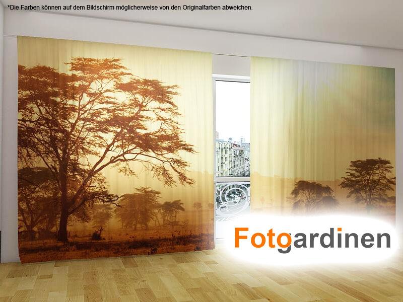 Foto visillos  tanzania  cortina con motivo, 3d impresión fotográfica, cortina de fotografía, a medida