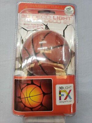 3D FX Deco LED Light Sports Baseketball 1pc WALL DECORATION MOUNT FIXTURE NEW