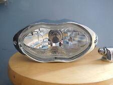 HARLEY CHOPPER CUSTOM BILLET Aluminum Sunray  HEADLIGHT STYLE CHROME