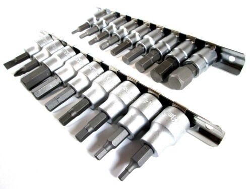 """18pc 3//8/"""" Dr Hex Allen Alan Key Socket Bit Set Screwdriver Bits MM /& AF Imperial"""