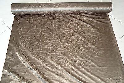Nr. 2177 Vorhangstoff Deko Gardinen Stoff Wellen Motiv braun