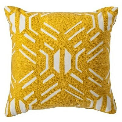 Room Essentials Patterned Decorative Pillow - Yellow