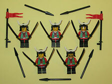 LEGO Minifigures Lot 5 Samurai Warriors Swords Katanas Ninja Lego Minifigs Guys