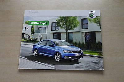 SchöN 171711 Automobilia Skoda Rapid Prospekt 02/2013 Tropf-Trocken Bücher