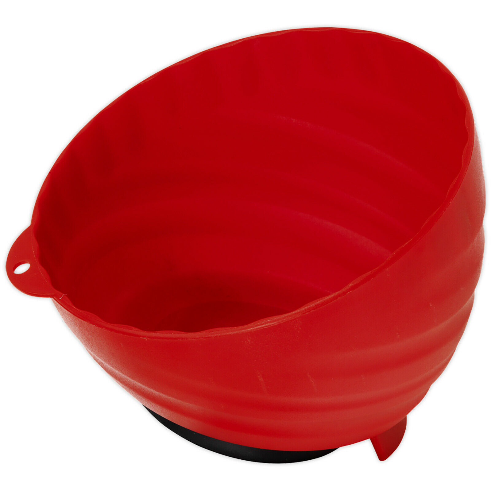 Sealey Magnetic Parts Tray Bowl Dish 150mm Non Marking Small Parts Storage Red