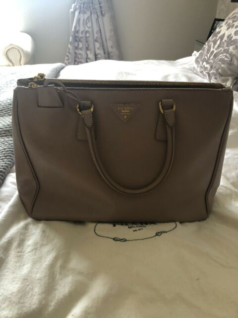 PRADA Large Galleria Ladies Neutral Saffiano Leather 2 Hand Tote Bag Handbag