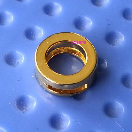 Argent Sterling 925 Plaqué Or Logo Reflexions Logo Clip Charm