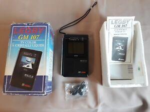 LEGBY GM 107 Mini TV LCD Portatile VINTAGE Originale GIACENZA NUOVA Funzionante