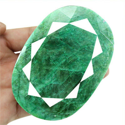 BEST QUALITY AMAZING 1958.00 CTS NATURAL OVAL FACETED GREEN EMERALD GEMSTONE