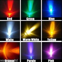 3mm / 5mm LED Bulbs - 9 COLOURS | Light Emitting Diode Ultra Bright 3V LEDs