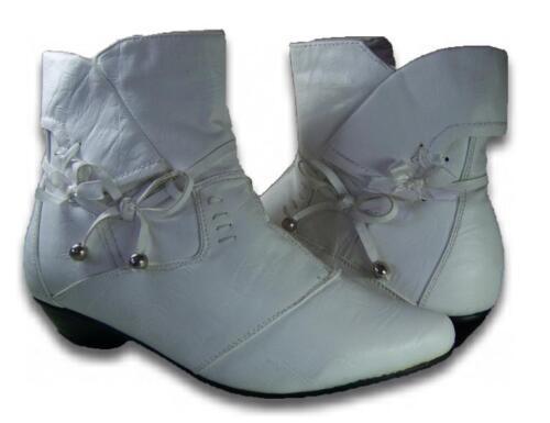 Damen Stiefeletten Leder-Optik Neu Stiefel Boots gefüttert Reißverschluss @25935