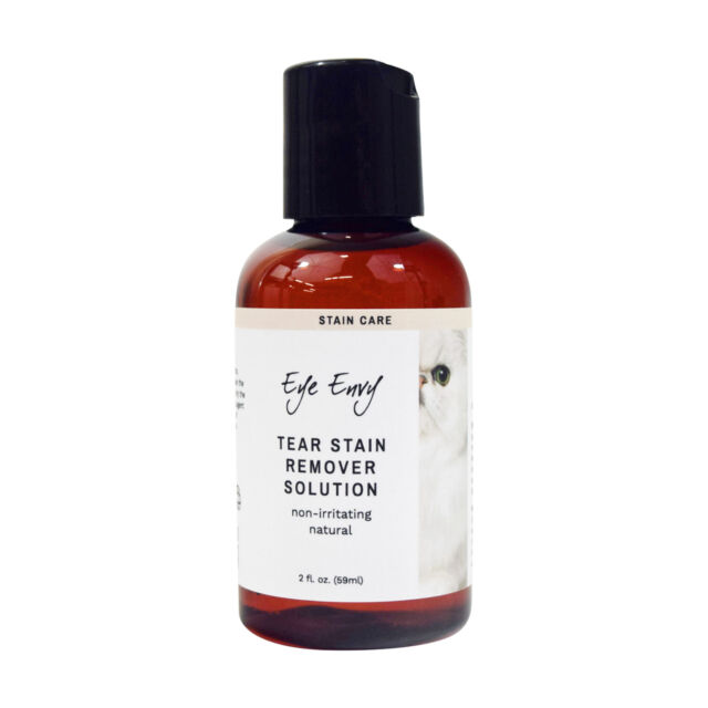 Eye Envy Tear Stain Remover for Cats & Kittens All Natural Liquid Solution 2 oz