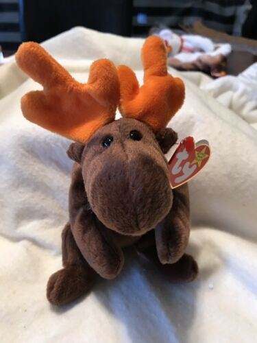 Retired PE Pellets 1993 NWT Ty Beanie Babies Chocolate the Moose 1993