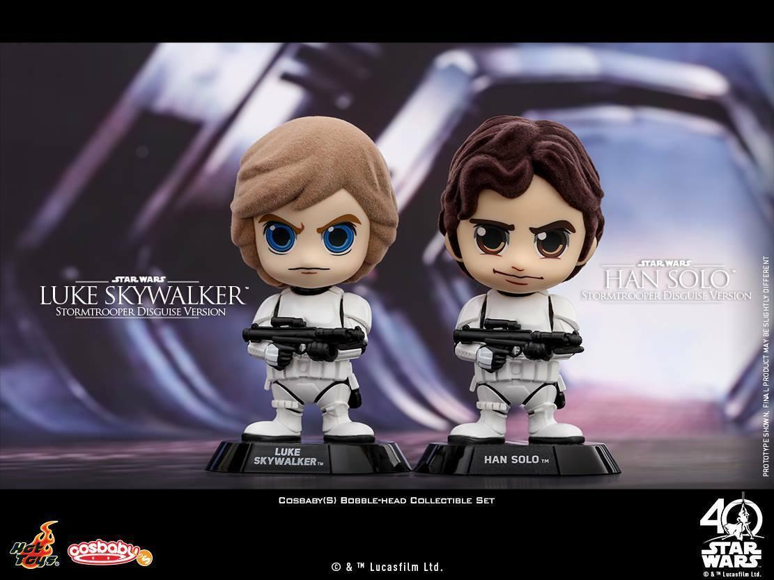 Hot Toys Toys Toys Bobble-Head Star Wars COSB386 COSBABY Luke Skywalker & Han Solo Figures a0b70d
