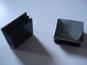 Lote-de-2-conectores-para-el-tubo-de-cuadrado-20x20-cromado-brillante-tapones