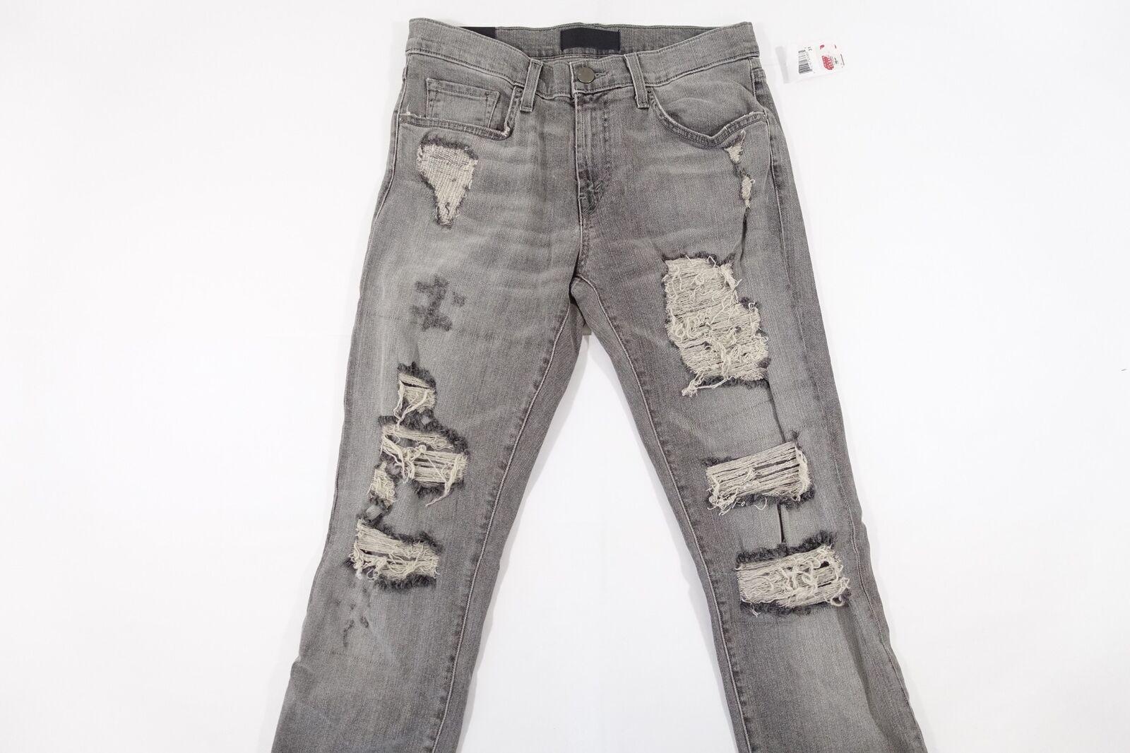 J Brand Verblichen Grau Zerrissen Schnitt Knie 30 Tyler Slim Fit Jeans Herren