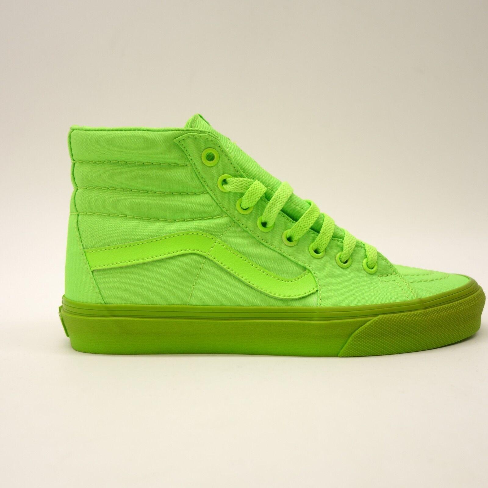 Nuevo Vans Mujer Verde Lona Neón Skater High Top Lona Verde Clásica Zapatos Talla Us 8 Eu 815c9a