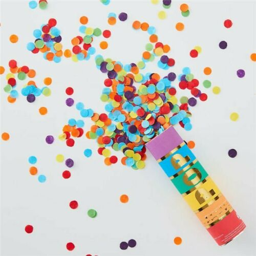 Ginger Ray Rainbow Pride Multi Coloured Wedding Birthday Confetti Shooter Cannon