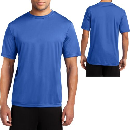 4X Big Mens Moisture Wicking T-Shirt Performance Dri Fit Gym Workout XL 3X 2X