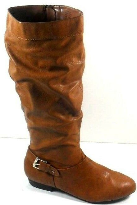 """Style&co. """"Pettra"""" Khaki Women's Synthetic Round Toe Slouch Knee High Boot 6.5M"""