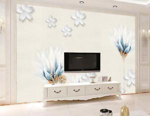 3D Blossom Lotu 4556 Wallpaper Murals Wall Print Wallpaper Mural AJ WALL UK Kyra