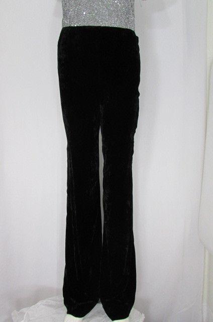 Oscar De La Renta Elegante Damen Schwarz Arbeitshose Bekleidung Winter Velvet