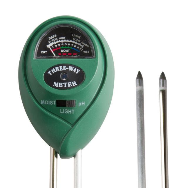 VIVOSUN 3-in-1 Garden Analog Soil Moisture PH Meter Plant Flower Light Tester