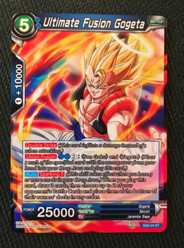 Ultimate Fusion Gogeta SD6-04 ST NON-FOIL Dragon Ball Super TCG NEAR MINT