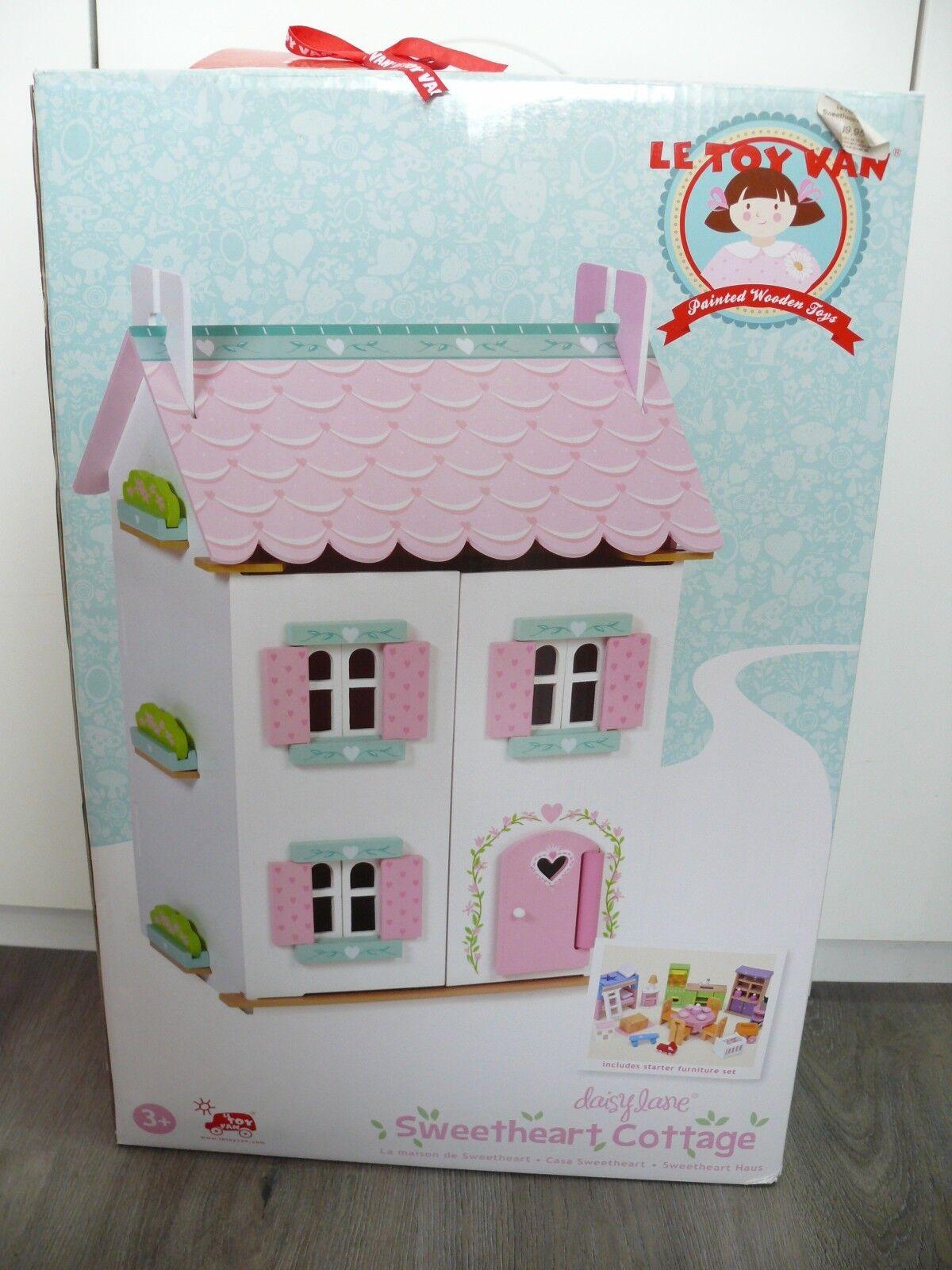 Le Toy Van daisylane Sweetheart Cottage casa delle bambole con Intelaiatura-NUOVO & OVP