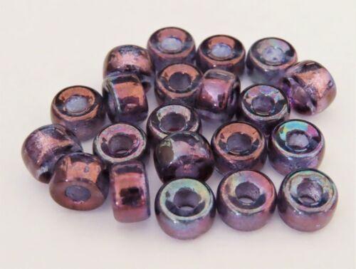 Luster 25 5 x 9 mm Czech Glass Crow Beads Transparent Denim Blue