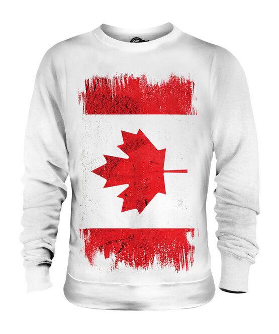 CANADA GRUNGE FLAG UNISEX SWEATER TOP CANADIAN SHIRT FOOTBALL JERSEY GIFT