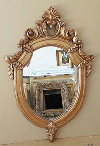 Large Ornate Hard Resin 32x48 Oval Framed Wall Mirror Ebay