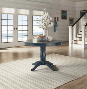 Details about Cottage Dining Table Round Pedestal Solid Wood 42\