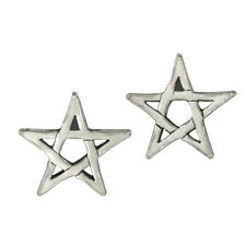 Sterling Silver Pentagram Star Post Earrings Wiccan Pagan Pentacle ss Jewelry