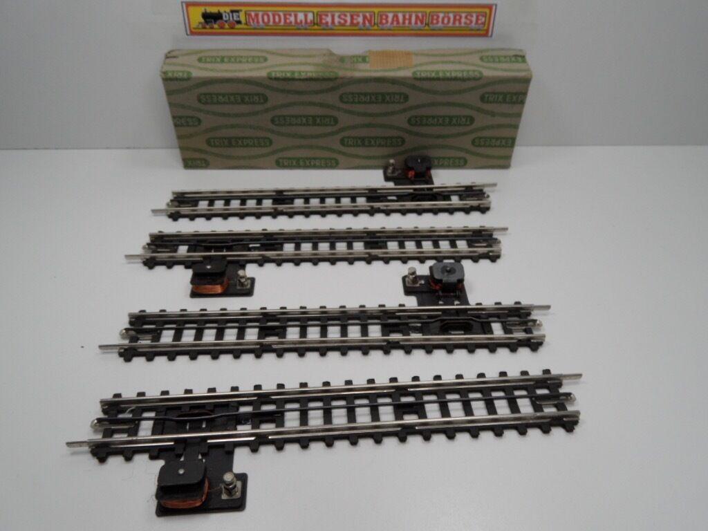 Trix Express 712  HO  4 x Entkupplungsgleis mit Stellhebel    OVP   9030