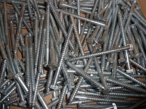 "50No 1//4 X 3/"" Square Head Coach Screws. BZP"