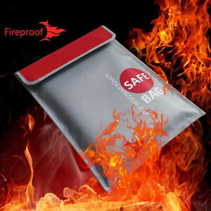 Money-Safe-Document-Bag-A4-Fireproof-amp-Waterproof-Non-Itchy-Silicone-Pouch-Case