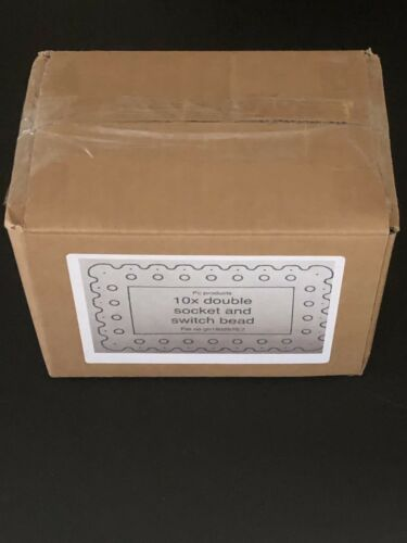 Box Of 10 Double Socket And Switch Beads Specialist Angle Bead Socket Cover
